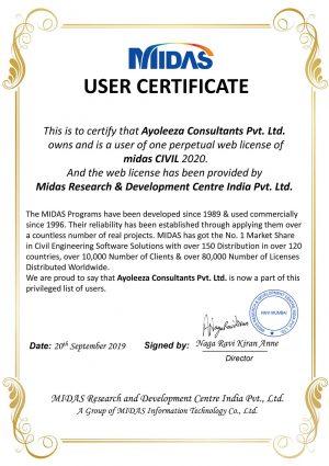 midas certificate